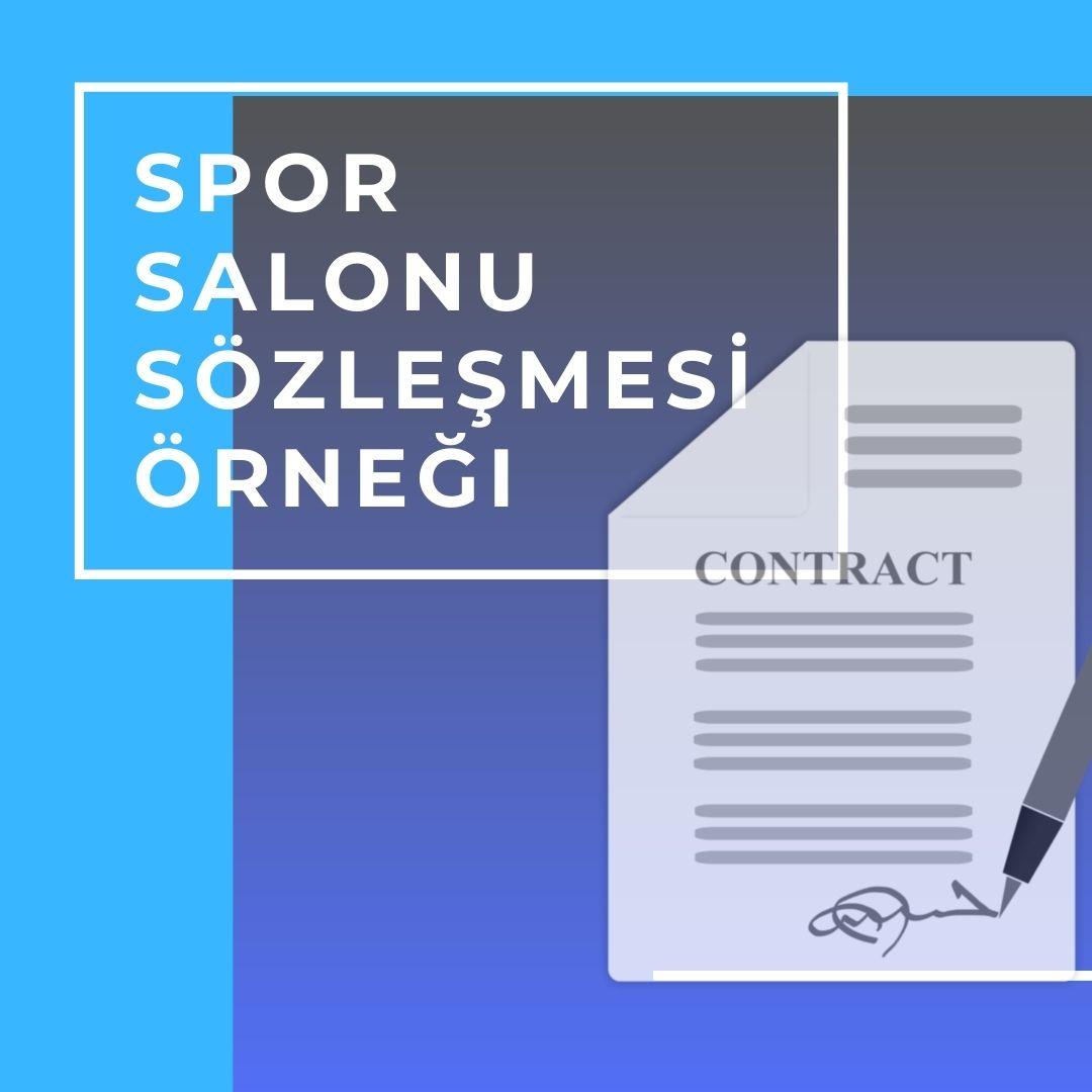 spor salonu üye sözleşme örneği pdf